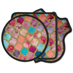 Glitter Moroccan Watercolor Iron on Patches