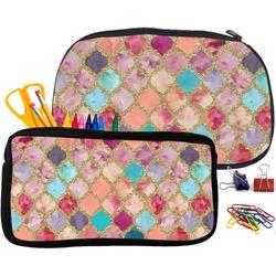 Glitter Moroccan Watercolor Pencil / School Supplies Bag (Personalized)