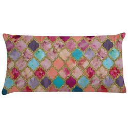 Glitter Moroccan Watercolor Pillow Case (Personalized)