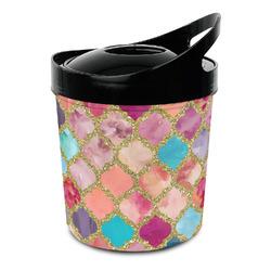 Glitter Moroccan Watercolor Plastic Ice Bucket (Personalized)