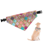 Glitter Moroccan Watercolor Dog Bandana
