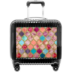 Glitter Moroccan Watercolor Pilot / Flight Suitcase (Personalized)