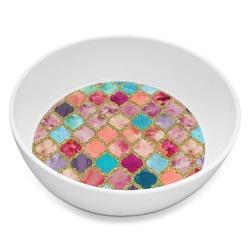 Glitter Moroccan Watercolor Melamine Bowl 8oz (Personalized)