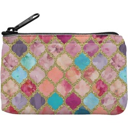 Glitter Moroccan Watercolor Rectangular Coin Purse (Personalized)