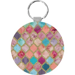Glitter Moroccan Watercolor Keychains - FRP (Personalized)
