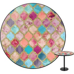 Glitter Moroccan Watercolor Round Table