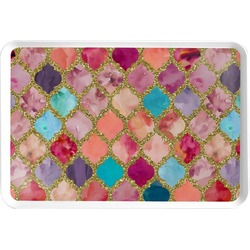 Glitter Moroccan Watercolor Serving Tray (Personalized)