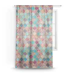 Glitter Moroccan Watercolor Sheer Curtains (Personalized)