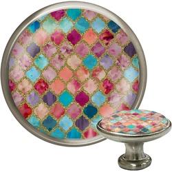 Glitter Moroccan Watercolor Cabinet Knobs (Personalized)