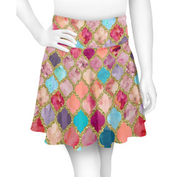 Glitter Moroccan Watercolor Skater Skirt (Personalized)