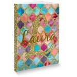 Glitter Moroccan Watercolor Softbound Notebook (Personalized)