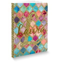 Glitter Moroccan Watercolor Softbound Notebook