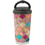 Glitter Moroccan Watercolor Stainless Steel Coffee Tumbler