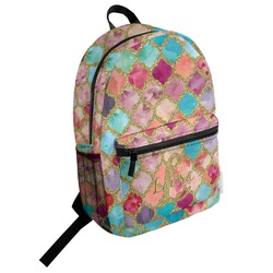 Glitter Moroccan Watercolor Student Backpack (Personalized)