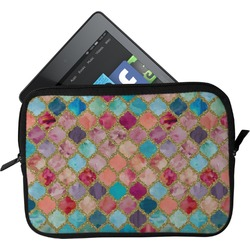 Glitter Moroccan Watercolor Tablet Case / Sleeve
