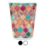 Glitter Moroccan Watercolor Waste Basket (Personalized)
