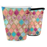 Glitter Moroccan Watercolor Waste Basket
