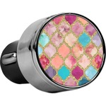 Glitter Moroccan Watercolor USB Car Charger