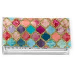 Glitter Moroccan Watercolor Vinyl Checkbook Cover