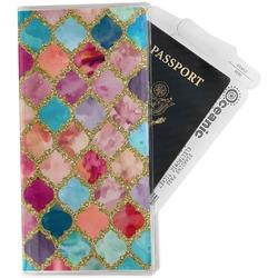 Glitter Moroccan Watercolor Travel Document Holder