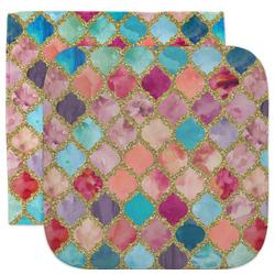 Glitter Moroccan Watercolor Facecloth / Wash Cloth
