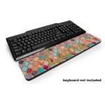 Glitter Moroccan Watercolor Keyboard Wrist Rest