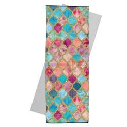 Glitter Moroccan Watercolor Yoga Mat Towel (Personalized)