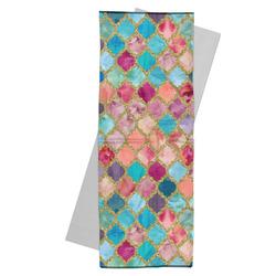 Glitter Moroccan Watercolor Yoga Mat Towel (Personalized)