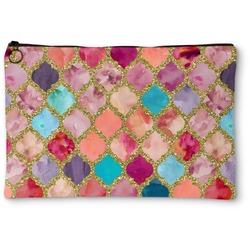 Glitter Moroccan Watercolor Zipper Pouch (Personalized)