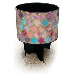 Glitter Moroccan Watercolor Black Beach Spiker Drink Holder (Personalized)