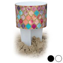 Glitter Moroccan Watercolor Beach Spiker Drink Holder (Personalized)