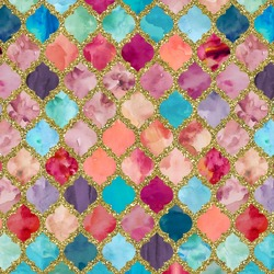 Glitter Moroccan Watercolor