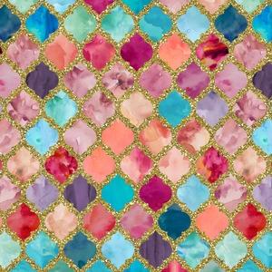Glitter Moroccan Watercolor