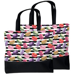 Macarons Beach Tote Bag (Personalized)