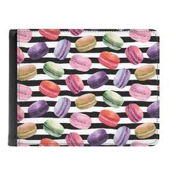 Macarons Genuine Leather Men's Bi-fold Wallet (Personalized)