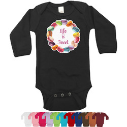 Macarons Bodysuit - Long Sleeves - 12-18 months (Personalized)