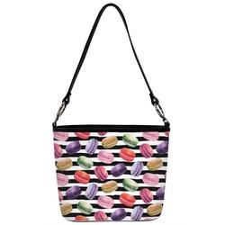 Macarons Bucket Bag w/ Genuine Leather Trim (Personalized)