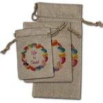 Macarons Burlap Gift Bags
