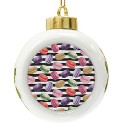 Macarons Ceramic Ball Ornament (Personalized)