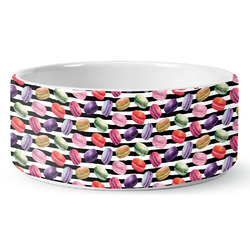 Macarons Ceramic Dog Bowl (Personalized)