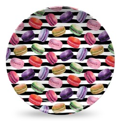 Macarons Microwave Safe Plastic Plate - Composite Polymer (Personalized)