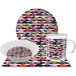 Macarons Dinner Set - 4 Pc (Personalized)