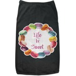 Macarons Black Pet Shirt (Personalized)