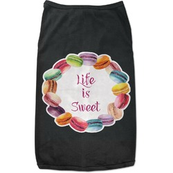 Macarons Black Pet Shirt - 2XL (Personalized)