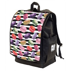 Macarons Backpack w/ Front Flap  (Personalized)
