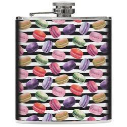 Macarons Genuine Leather Flask (Personalized)