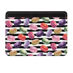 Macarons Genuine Leather Front Pocket Wallet (Personalized)