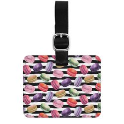 Macarons Genuine Leather Luggage Tag
