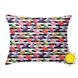 Macarons Outdoor Throw Pillow (Rectangular) (Personalized)