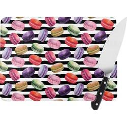 Macarons Rectangular Glass Cutting Board (Personalized)